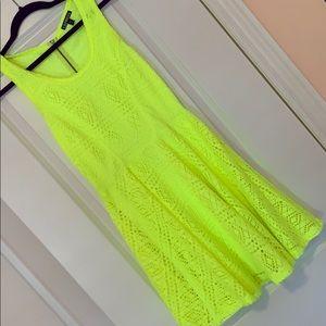 Express Neon Yellow Summer Dress